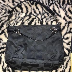 Coach signature Sateen Brooke bag F17183 🍒